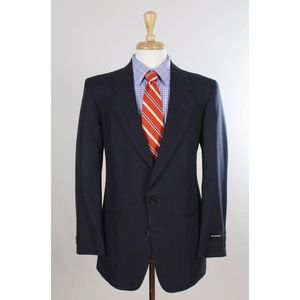 NEW #Vintage 80s #Stafford 40R Navy Sport Coat 005
